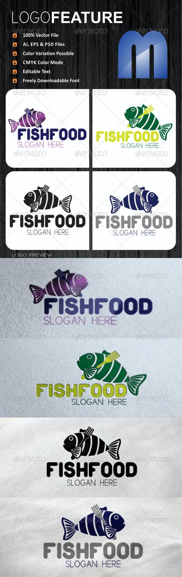 Fish Food Logo - Food Logo Templates