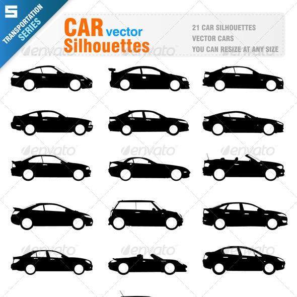 21 Car Silhouettes