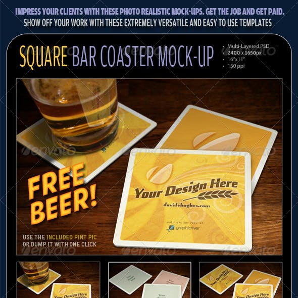 Bar Coaster Mock-ups
