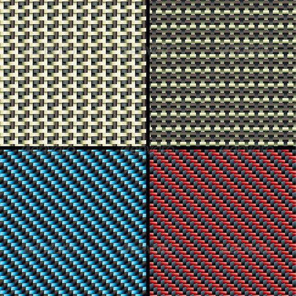 Carbon, Kevlar and Decorative Fabric - Set Four