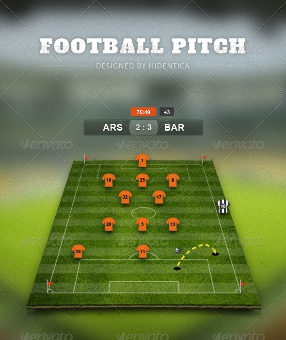 Football Pitch PSD  - Miscellaneous Illustrations