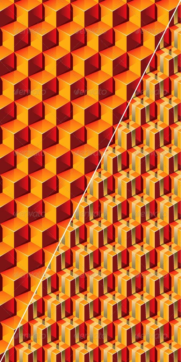 Seamless Transparent Boxes 3D Pattern - Patterns Decorative