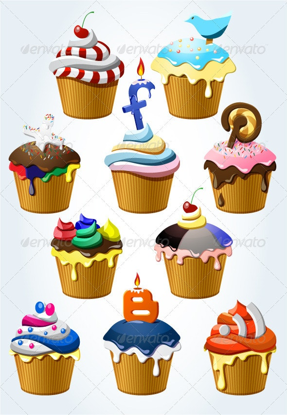 Cupcakes Iconset - Web Icons