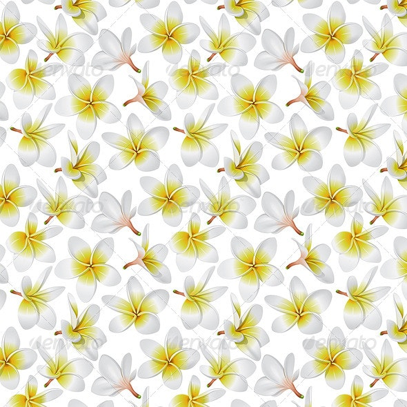 Tropical Flowers Seamless Pattern - Patterns Decorative
