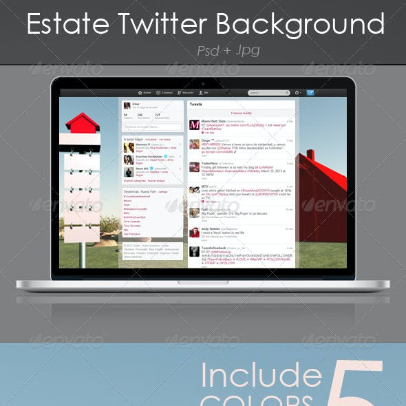 Real Estate Twitter Background