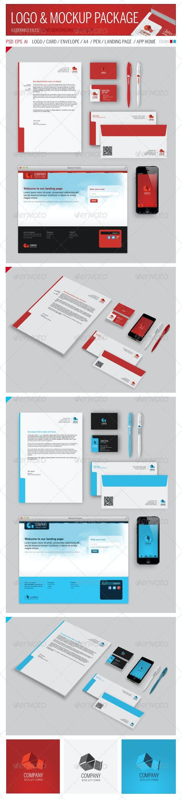 Logo & Mockup Package - Print Product Mock-Ups