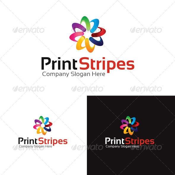 Print Stripes Logo Template