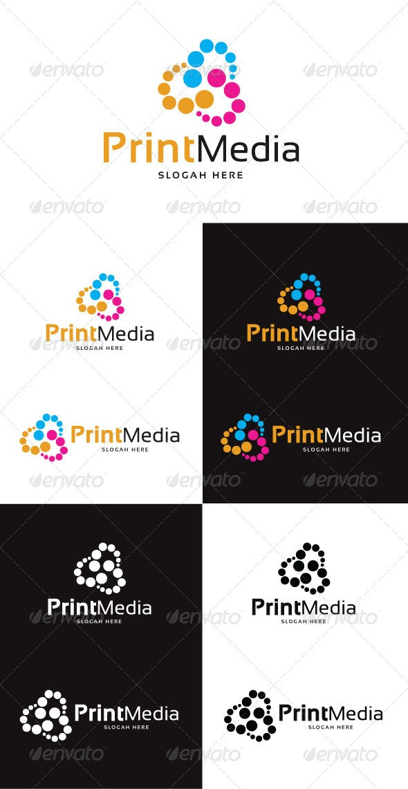 Print Media Logo Template - Abstract Logo Templates