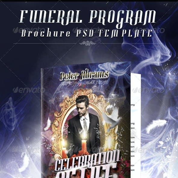 Funeral Program Brochure Template 03