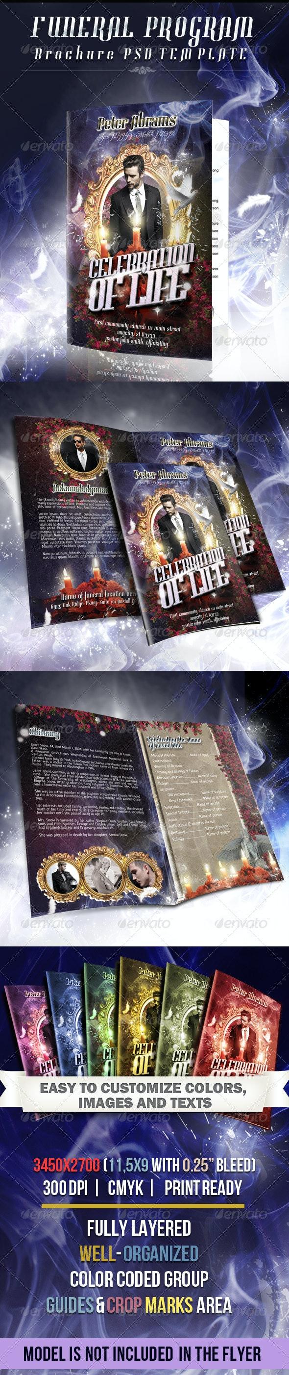 Funeral Program Brochure Template 03 - Informational Brochures