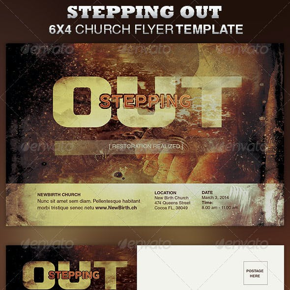 Stepping Out Church Flyer Template