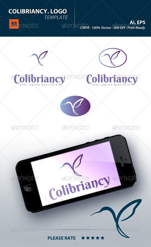 Colibriancy Logo - Animals Logo Templates