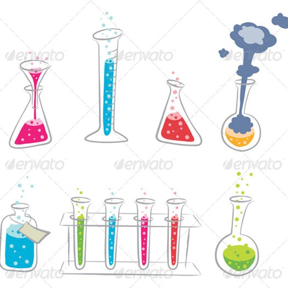 Cartoon Chemistry Set