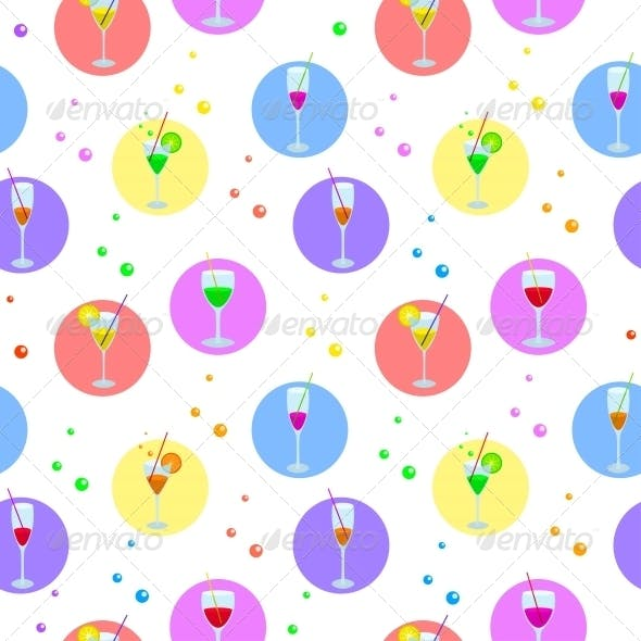 Glasses and Bubbles Background
