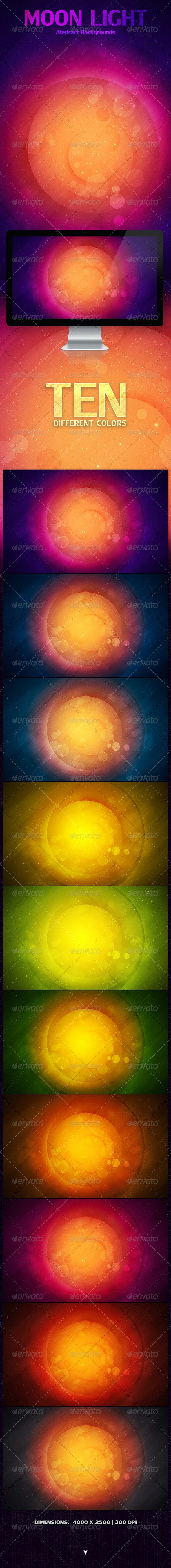 Moon Light Abstract Backgrounds - Abstract Backgrounds
