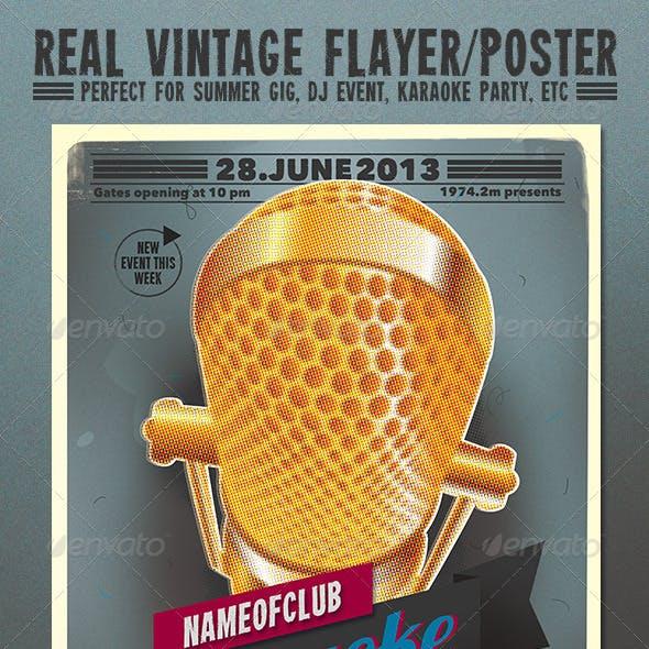 Karaoke Vintage Flayer / Poster