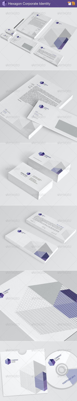 Hexagon Corporate Identity - Stationery Print Templates