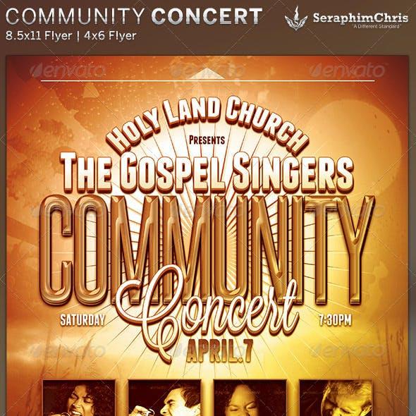 Community Concert: Church Flyer Template