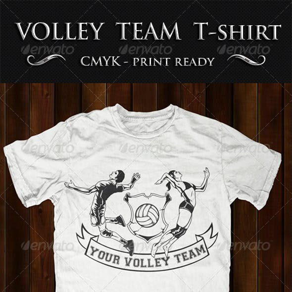 Volley T-shirt Template
