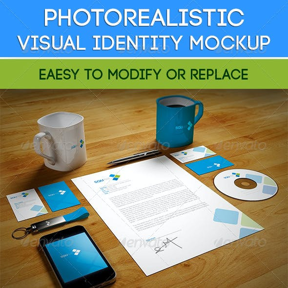 Photorealistic Visual Identity Mockup