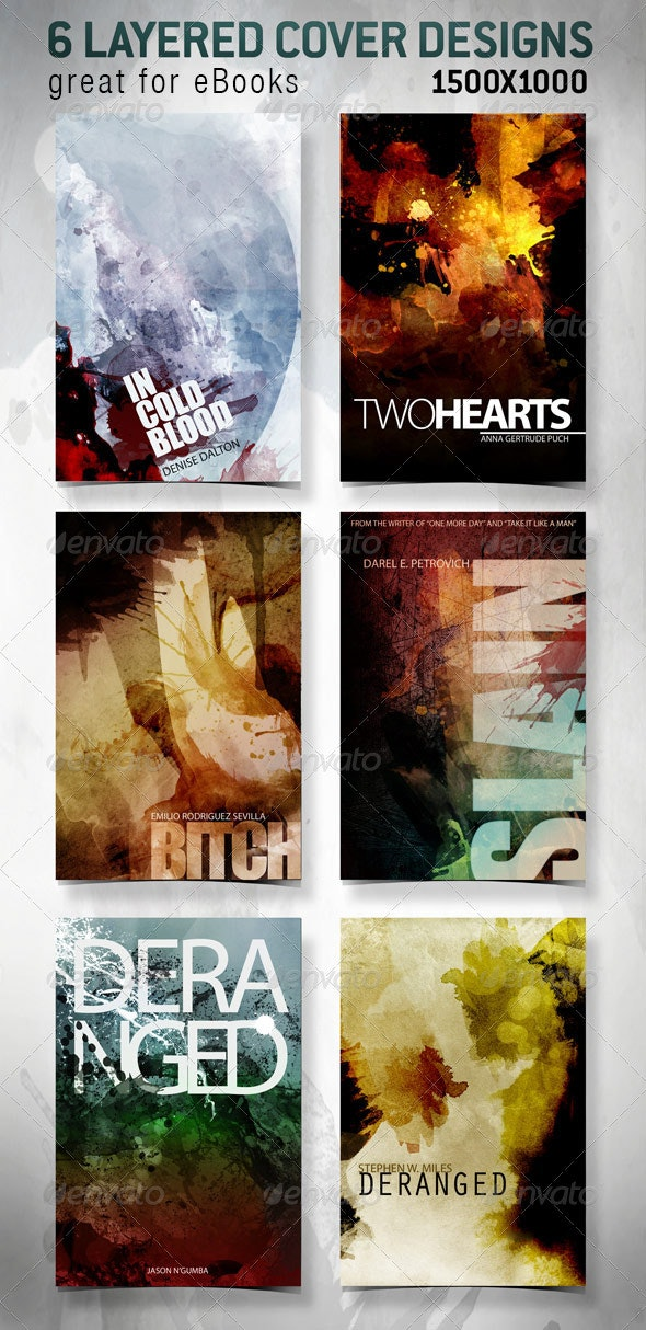 6 eBook Covers for Web - Abstract Backgrounds