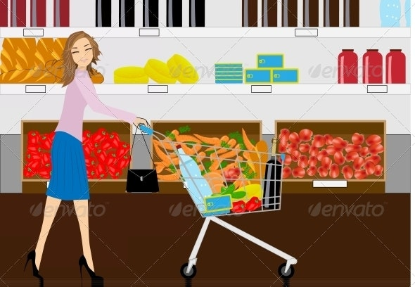 The Woman in Grocery Shop - Retail Commercial / Shopping