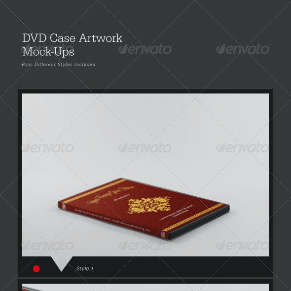 DVD Case Artwork Mock-Ups