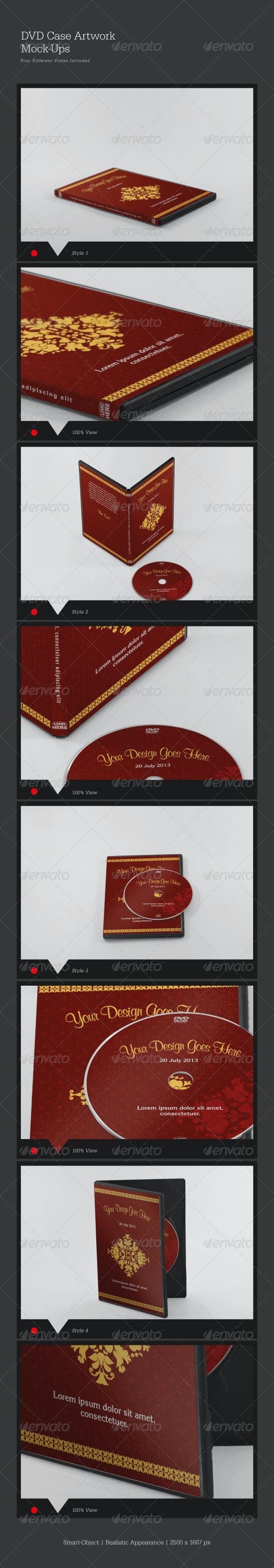 DVD Case Artwork Mock-Ups - Print Product Mock-Ups