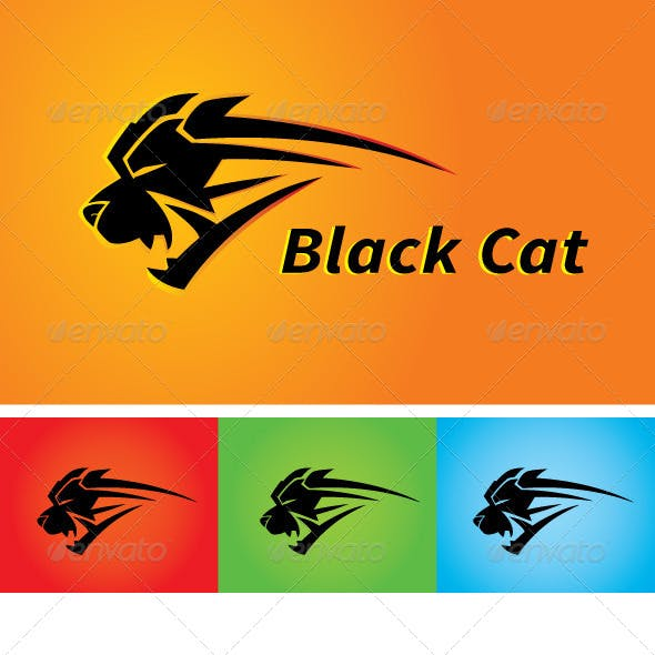 Black Cat Sports Apparel Logo