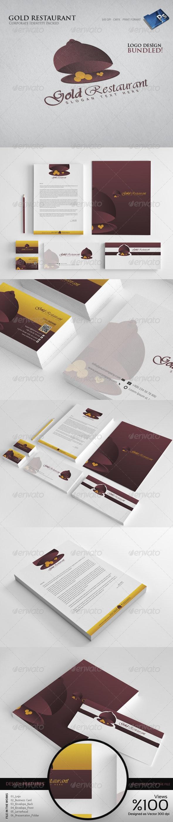 Gold Reustrant  - Corporate Identity - Stationery Print Templates