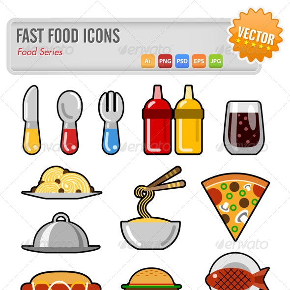 12 Fast Food Icons