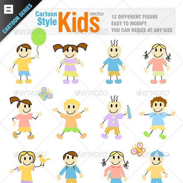 12 Cartoon Kid Characters
