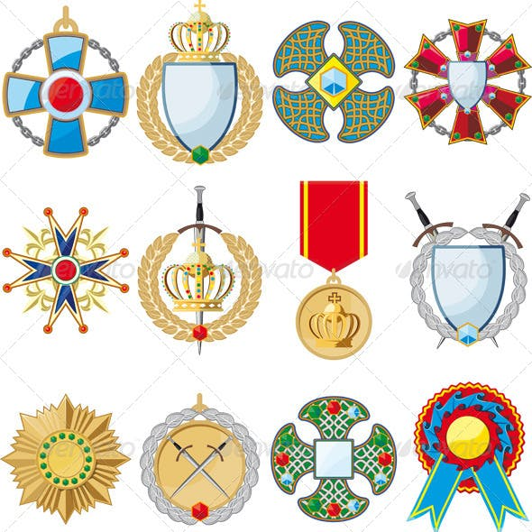 Set of Various Medals