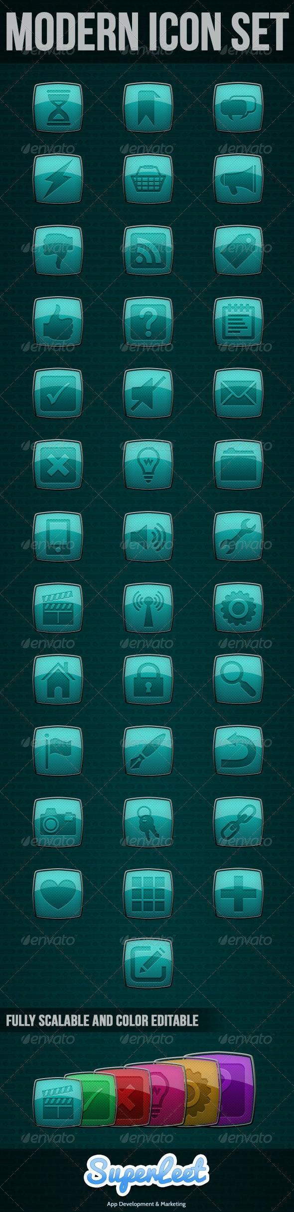 Modern Icon Set - Icons
