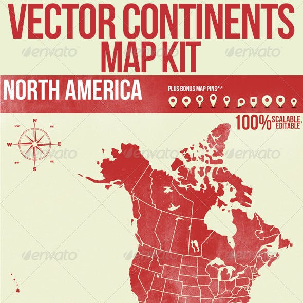 Vector Continents Map Kit