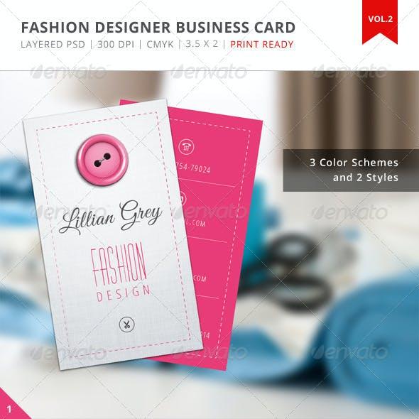 Fashion Designer Business Card - Vol.2