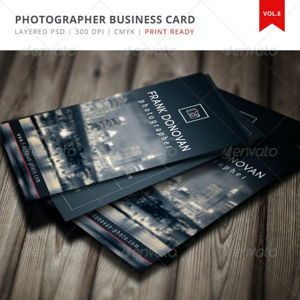Photographer Business Card - Vol.8