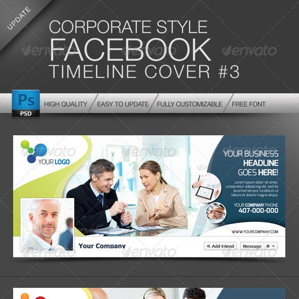 FB Timeline Cover Corporate Style No.3