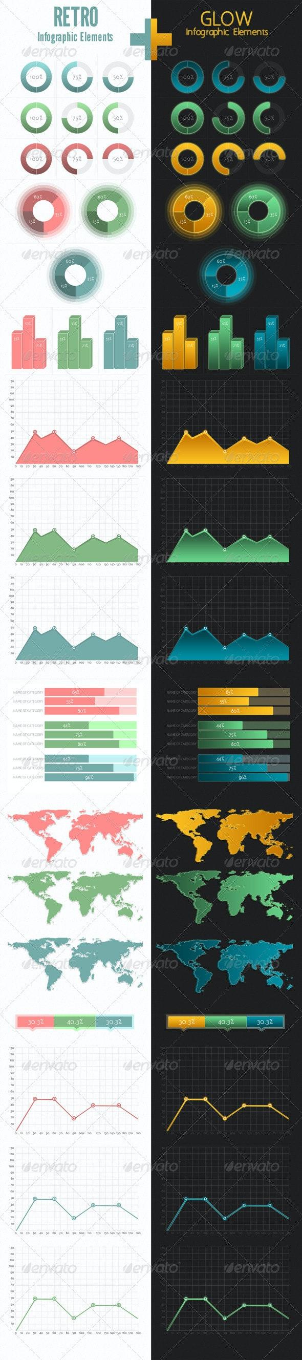 Retro+Glow Infographic - Miscellaneous Web Elements