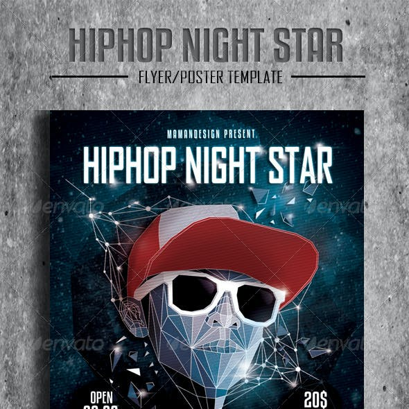 HipHop Night Star Flyer/Poster