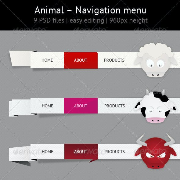 Animal - Navigation Menu Set