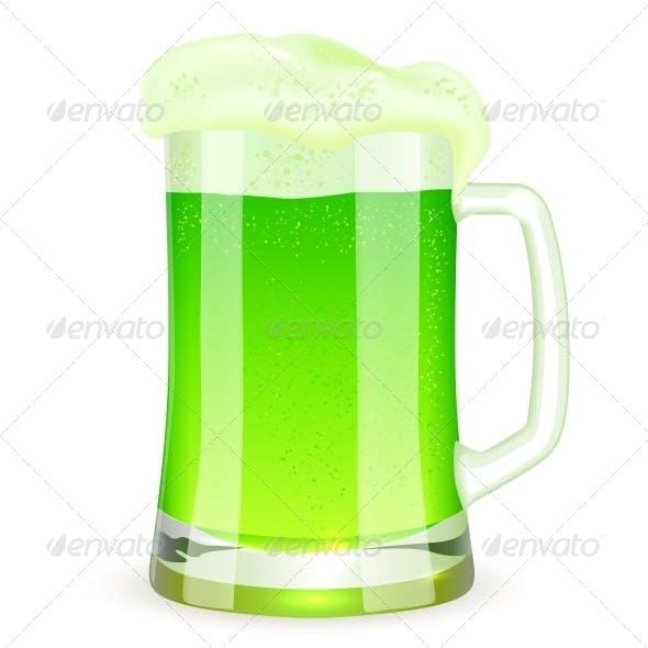 Saint Patrick's Day Pint of Green Beer