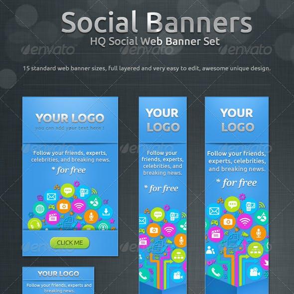 Social Banners - Social Web Banner Set