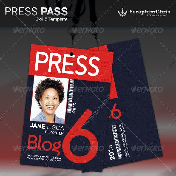 Press Pass Template 2