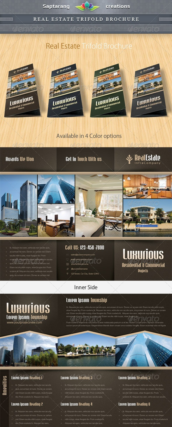 Real Estate Trifold Brochure  - Brochures Print Templates