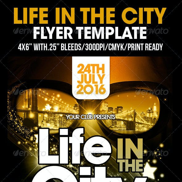 Life In The City Flyer Template
