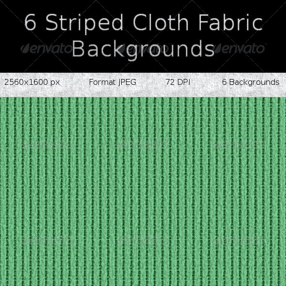 6 Striped Cloth Fabric Backgrounds