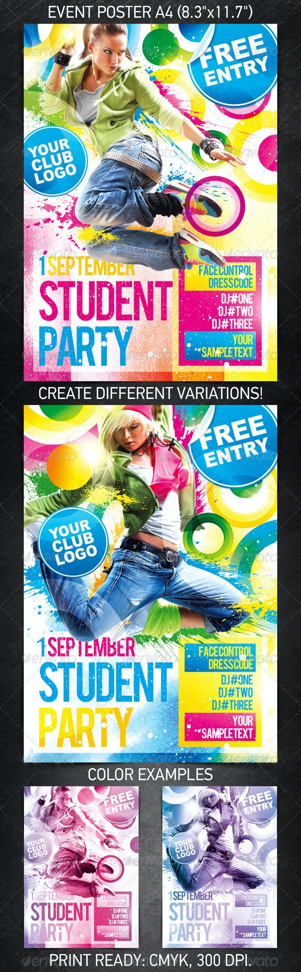 Student Party Poster - Clubs & Parties Events