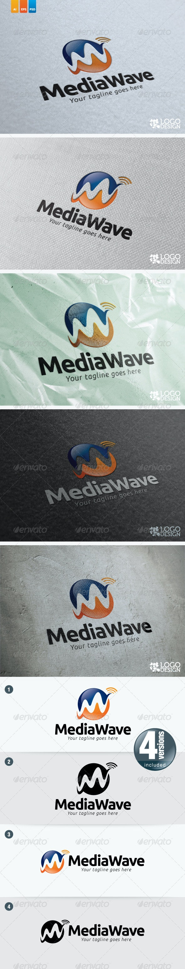 Media Wave - Vector Abstract