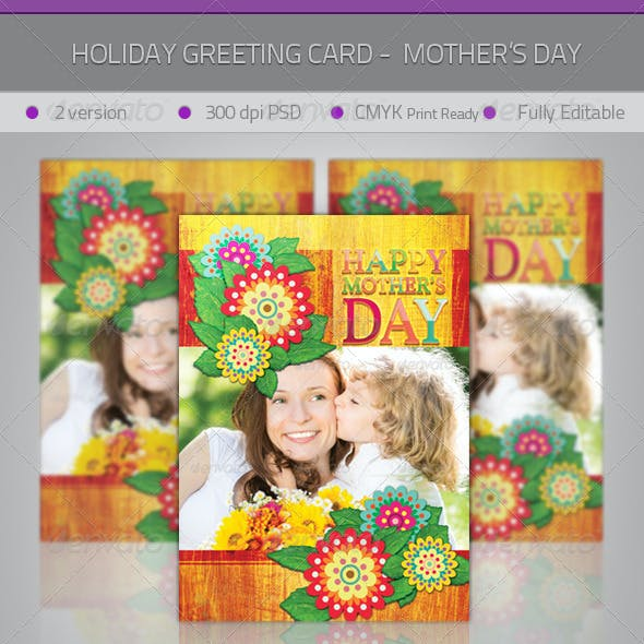 Mother's Day Greeting Card - Flowers